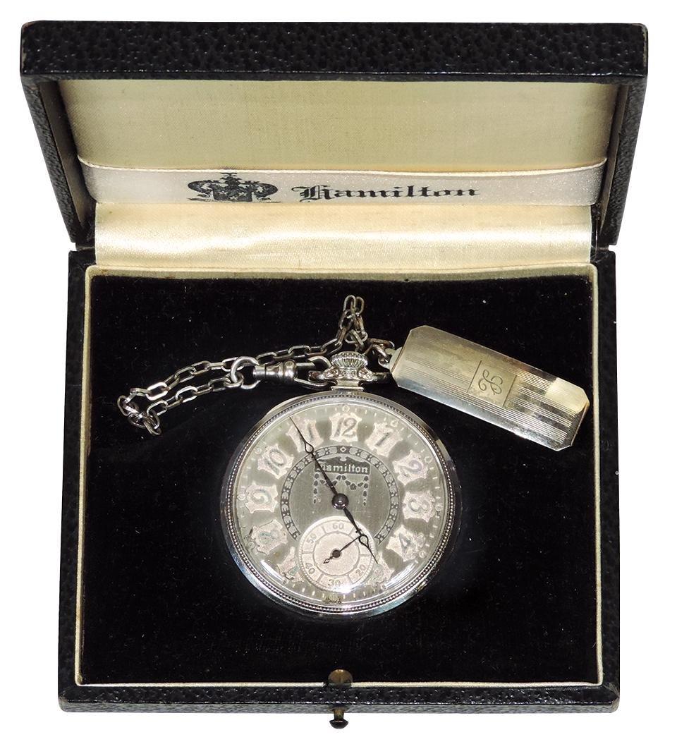 Jewelry, Pocket watch, Hamilton size 12, 17 Jewel,