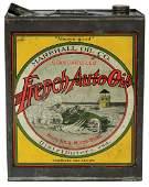 Petroliana tin, French Auto Co. 1 gal, from Marshall