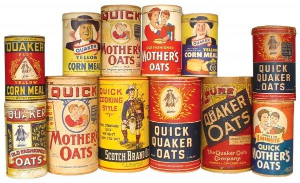 0002: Rolled oat & cornmeal cylinders (12), Scotch, Qua