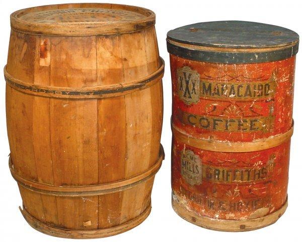 0003: Washburn Gold Medal Flour wooden barrel w/orig pa