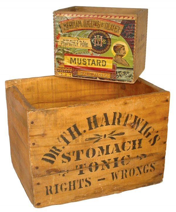 0006: Advertising boxes (2), wooden country store Merri