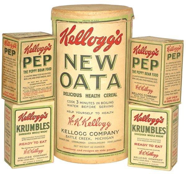 0012: Kellogg's New Oata 42 oz. cdbd cylinder (Rare), 2