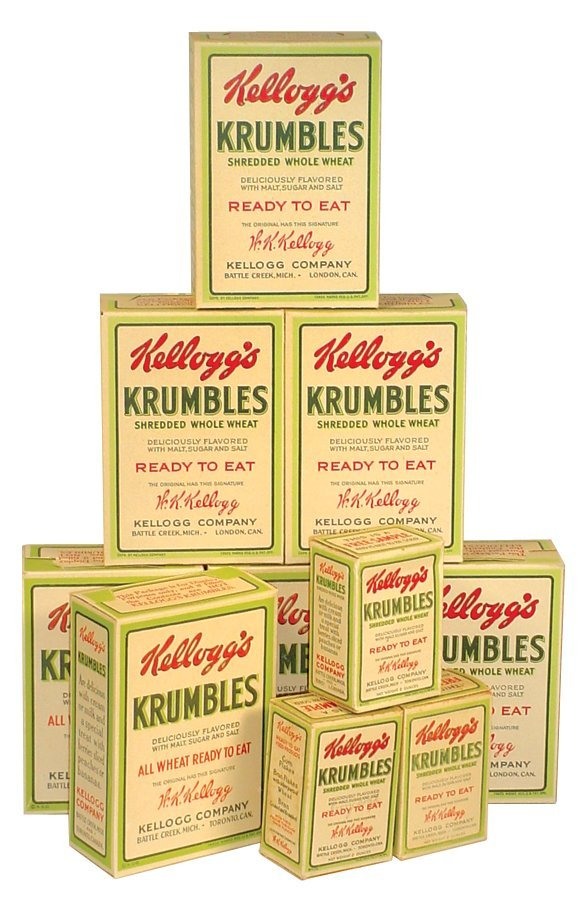 0014: Kellogg's Krumbles cereal boxes (10), 3 smaller b