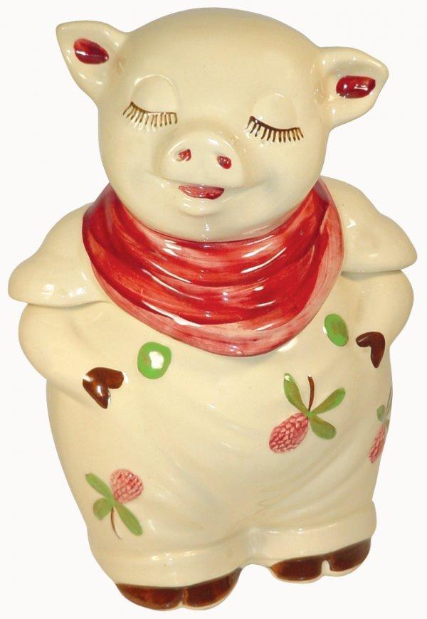 0022: Cookie jar, Shawnee, Clover Bud Smiley, marked Pa