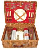 0488 Wicker picnic basket made by Abercrombie  Fitch