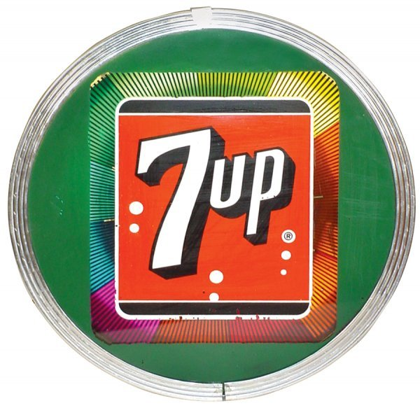 0758: 7-up light-up motion sign, mfgd by The Ohio Adver