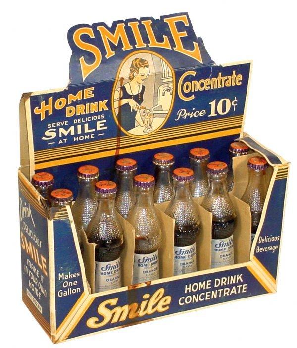 0763: Smile Soda Pop counter display, cdbd display box