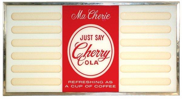 0766: Cherry Cola menu board, reverse paint on glass w/