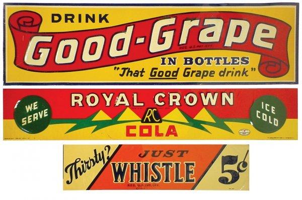 0767: Whistle, Royal Crown & Good-Grape litho on emboss