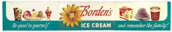 0773: Borden's Ice Cream sign, 3 section masonite w/die