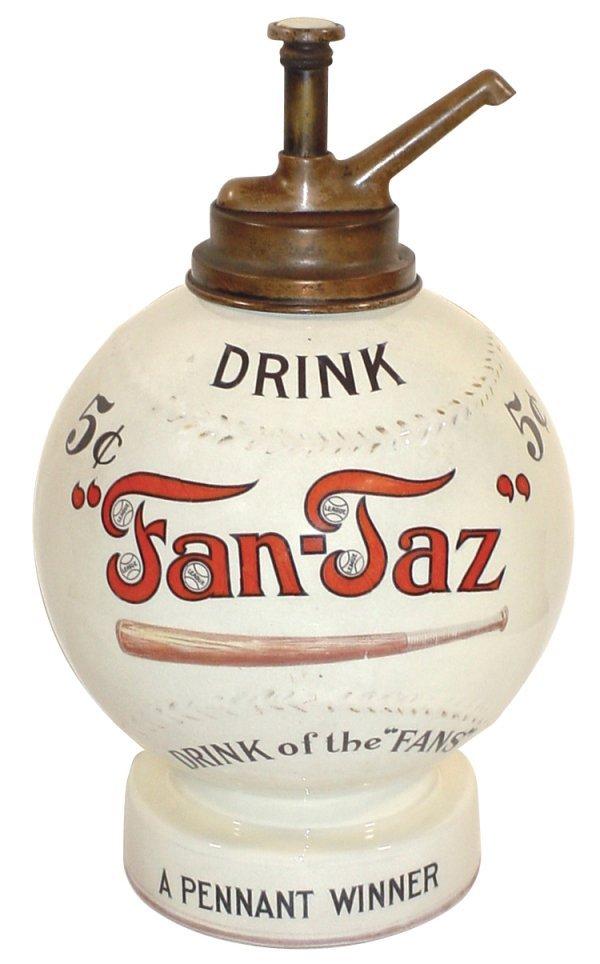 """1125: Syrup dispenser, Fan-Taz, """"Drink Fan-Taz Drink of"""