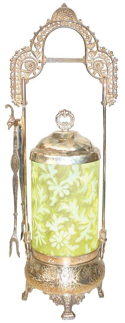 Victorian pickle castor, Meridian Silver Co. #645