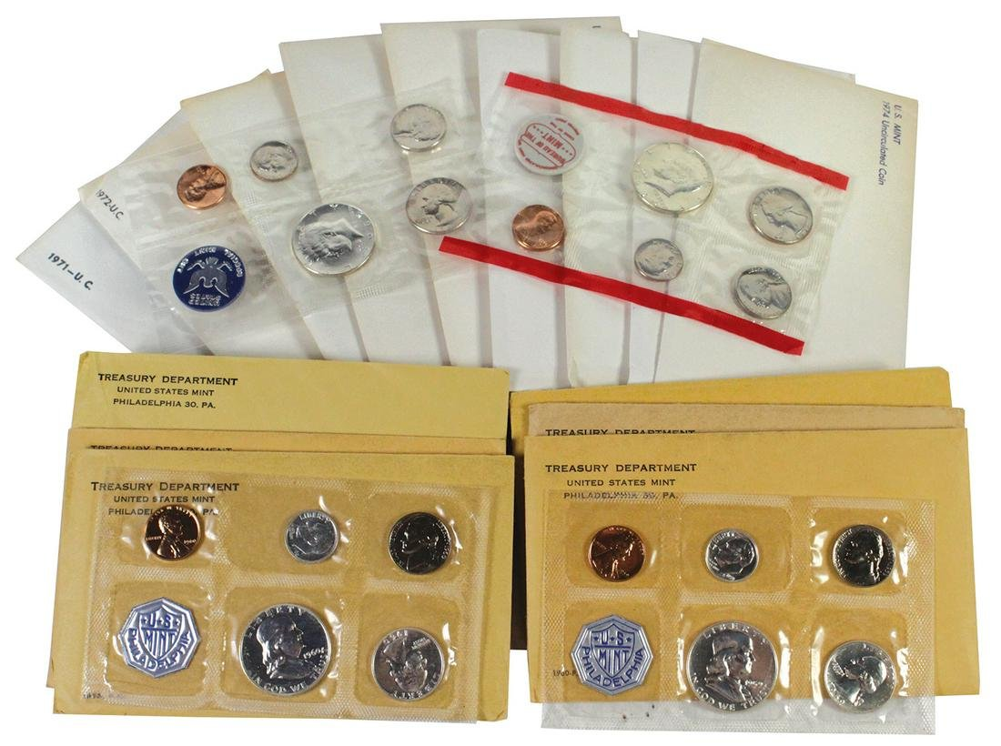 Coins: U.S. Treasury Proof & Uncirculated Coin Sets (17