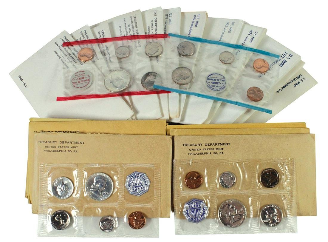 Coins: U.S. Treasury Proof & Uncirculated Coin Sets (19