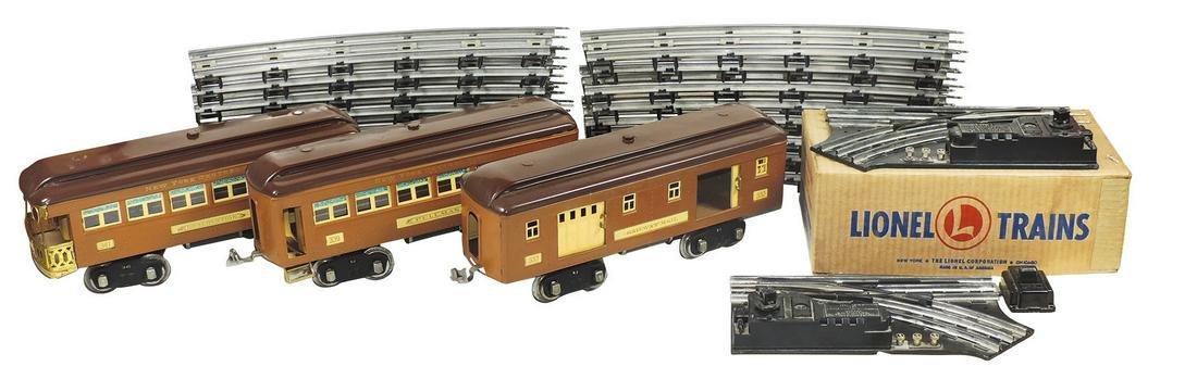 Toy Train, Lionel Standard Gauge, pre-war 2-tone brown