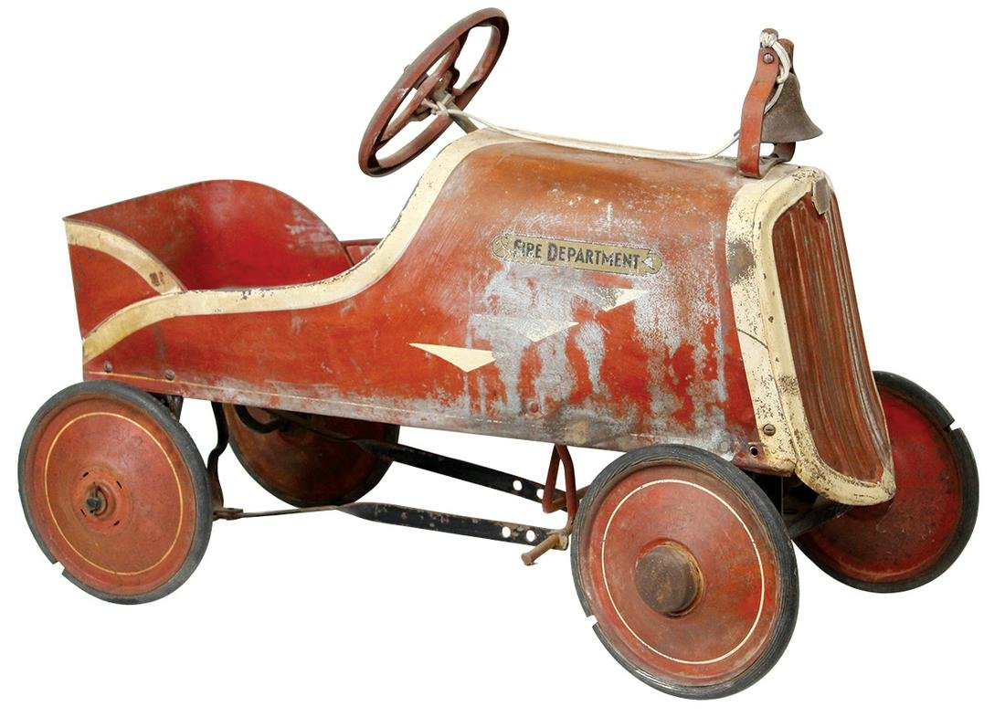 """Child's Pedal Car, """"Fire Chief"""", c.1930's, mfgd by"""