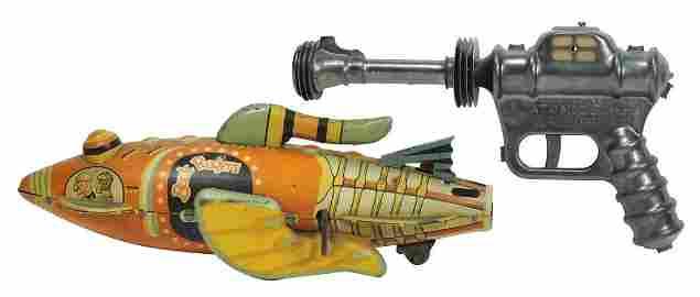 Toy Buck Rogers Rocket Ship & Buck Rogers Atomic