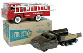 Toy Vehicles 2 Structo 307 Fire engine Exc cond in