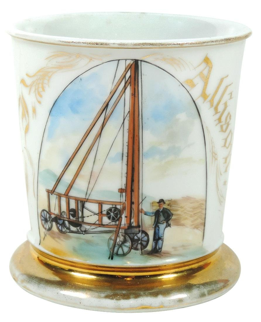 Occupational Shaving Mug, Water Well Driller, pictured