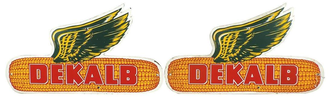 "Farming Seed Corn Signs (2), 1950's DeKalb ""Winged"