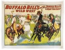 "Western Poster, Buffalo Bill's Wild West ""Cow Boy Fun."