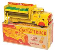 CocaCola Toy Delivery Truck wBox Marx pressed steel