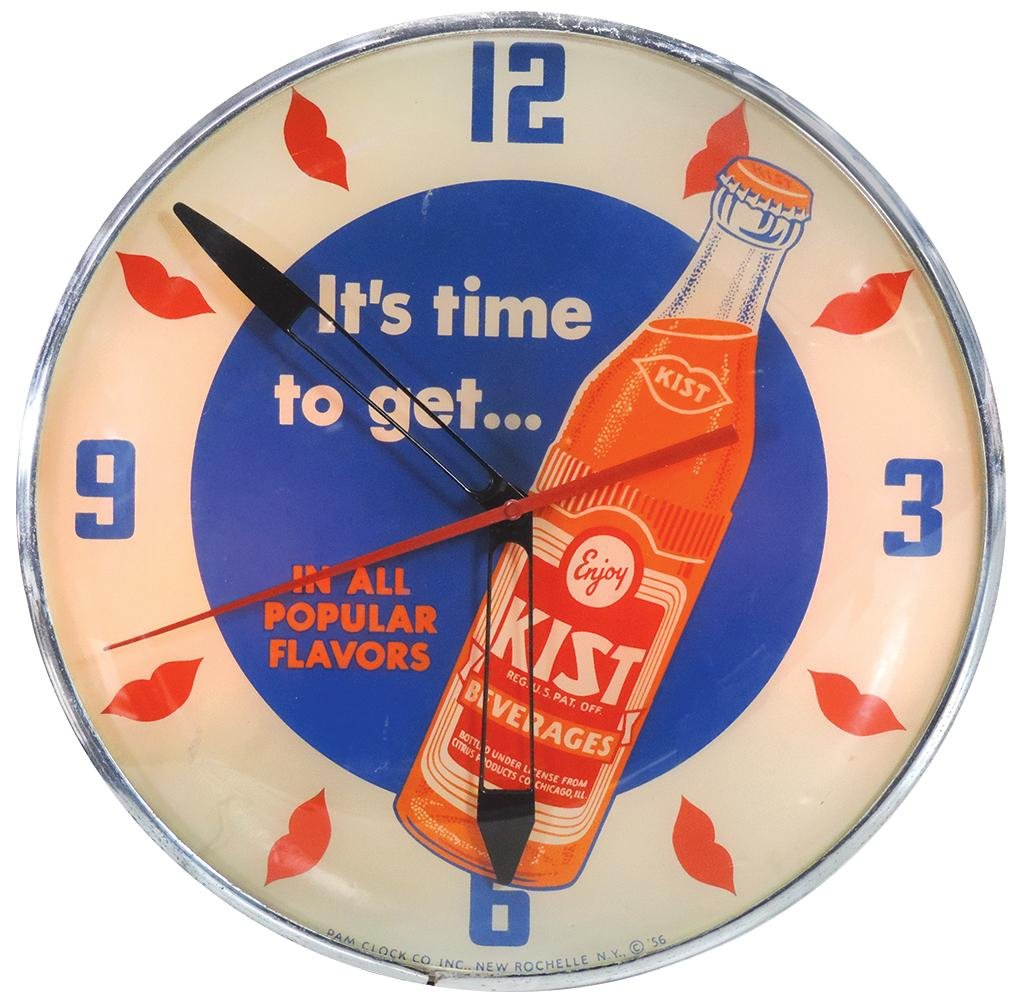 "Soda Fountain Clock, ""Kist"""