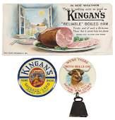 Advertising Smalls (3), Kingan's Reliable Boiled Ham