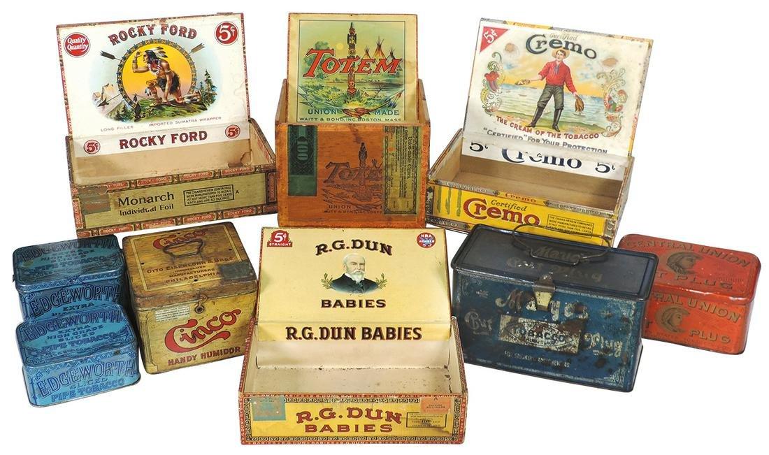 Tobacco Tins & Cigar Boxes, (9), Mayo's lunch box tin,