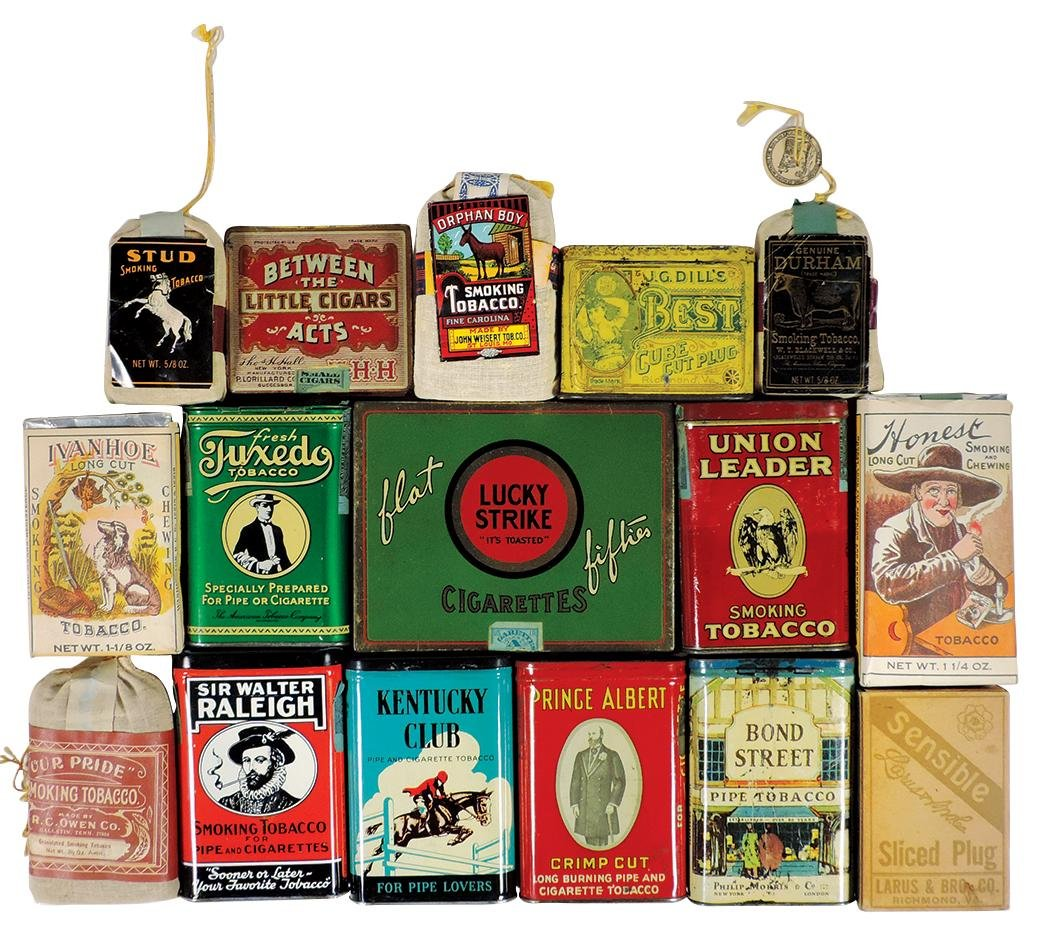"Tobacco Tins & Pouches (16), Lucky Strike ""Flat"