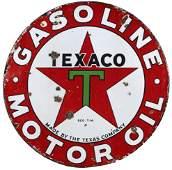 Petroliana Sign, Texaco Gasoline & Motor Oil