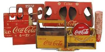 Coca-Cola Vintage Items (8), five different bottle