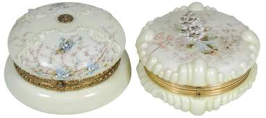 "Art Glass (2), Wavecrest Dresser Boxes, ""Baroque Shell"""