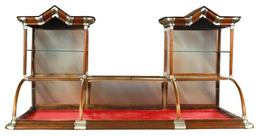 """Display Case, """"Excelsior"""" curved glass double tower"""