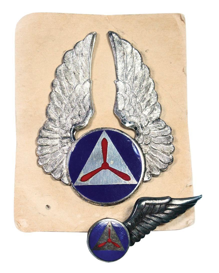 Militaria, U.S. Civil Air Patrol Badges (2), WW2 era