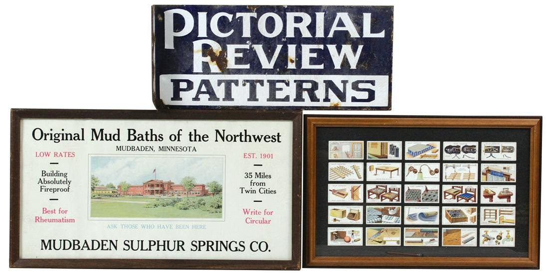 """Advertising Signs & Cards (3), """"Pictorial"""