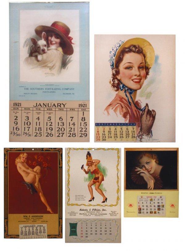 0001: Advertising calendars (5) from Kenvil, NJ, Syracu
