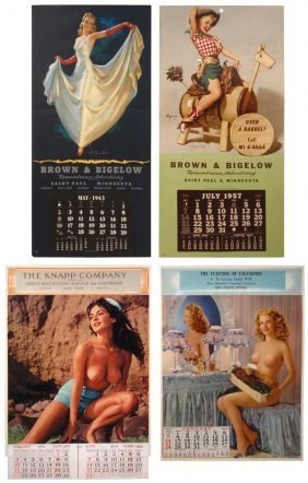 0003: Advertising pin-up calendars from Brown & Bigelow