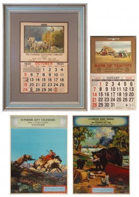 0004: Advertising & salesman's sample calendars (4), ad