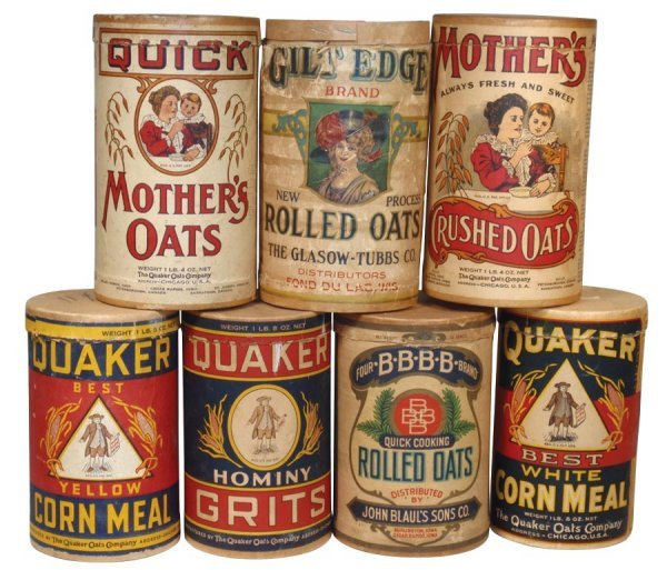 0007: Rolled oat containers (7), John Blaul's Sons BBBB