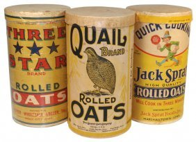 0008: Rolled oat containers (3), Jack Sprat-Marshalltow