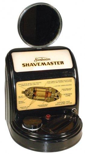 0013: Sunbeam Shavemaster, light-up Deco-style counter