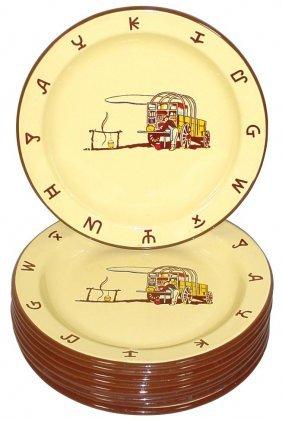 0014: Monterrey Western Ware plates (10), chuckwagon sc