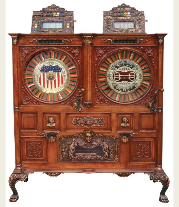 0502: Coin operated floor model slot machine, Mills Dou