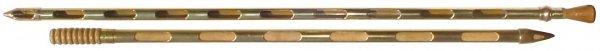 0716: Grain probes (2), solid brass, one mfgd by Twenti