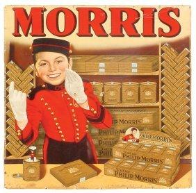 0722: Philip Morris cdbd sign w/colorful graphics of Jo
