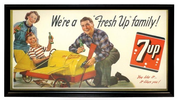 0723: 7up cdbd trolley sign, young boy in his airplane