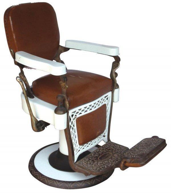 0947: Barber chair, Louis Hanson Co.-Chicago, white por
