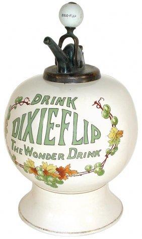 """0968: Syrup dispenser, """"Drink Dixie-Flip The Wonder Dri"""