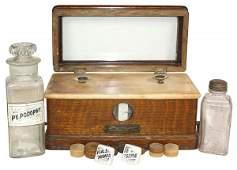 1127: Drug store items (5), The Torsion Balance Co. box